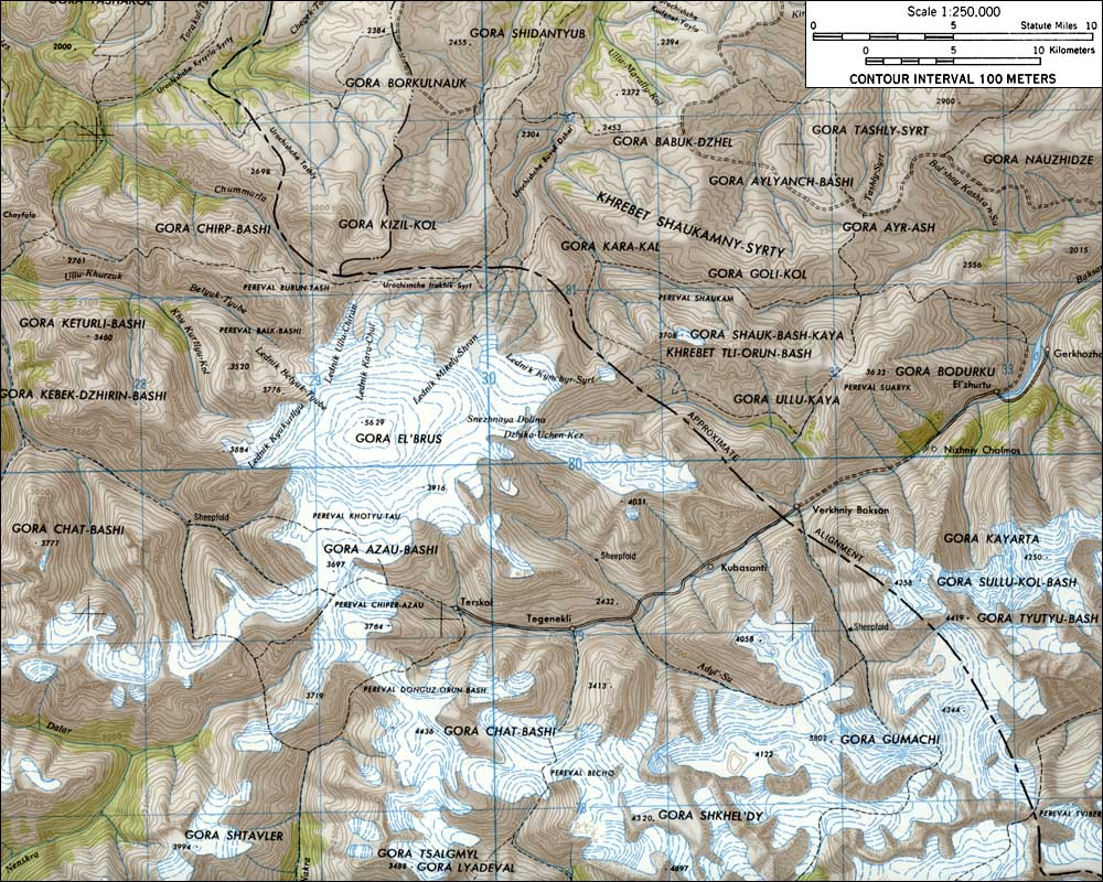 Skiing The Pacific Ring Of Fire And Beyond Elbrus - Mt elbrus map