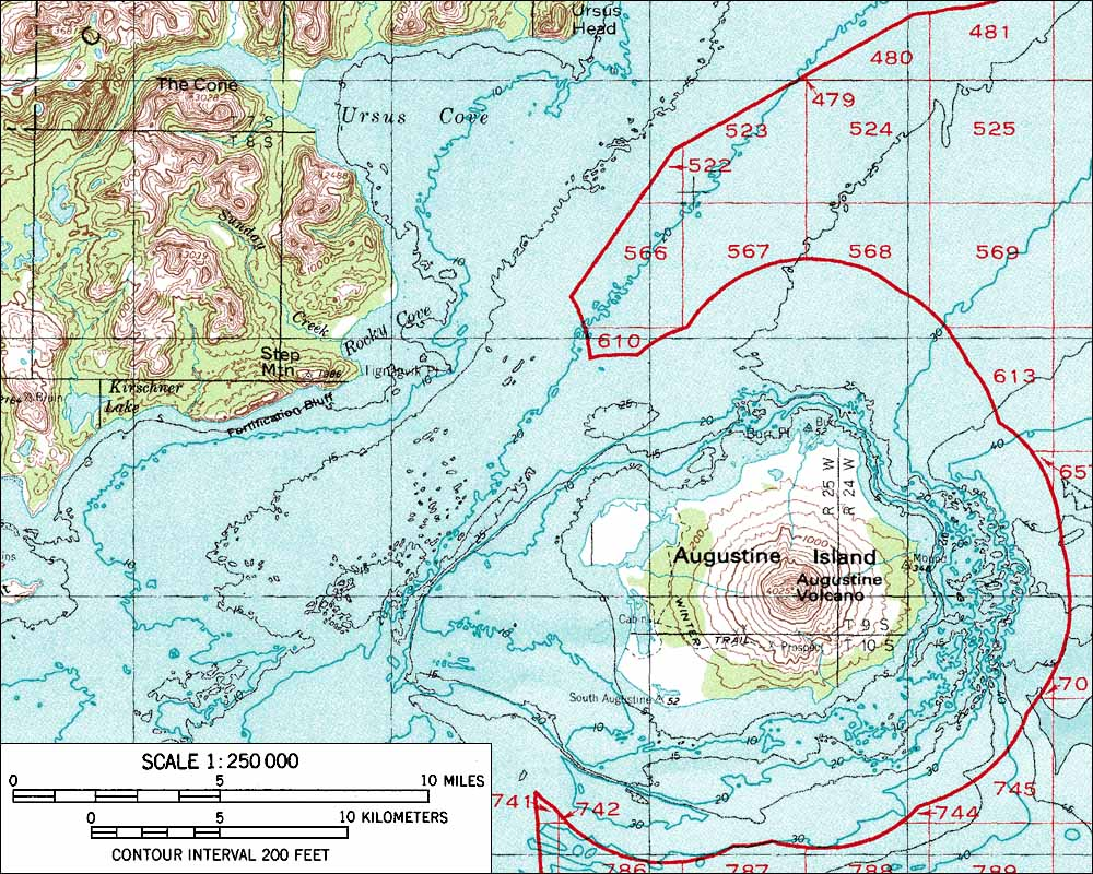 Skiing The Pacific Ring Of Fire And Beyond Augustine Volcano - Volcanoes in usa map