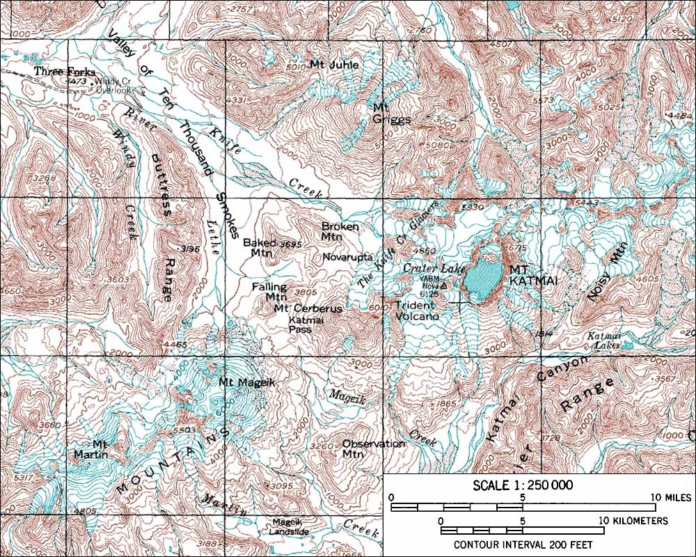 Denali National Park Topographic Map.Skiing The Pacific Ring Of Fire And Beyond Mount Katmai