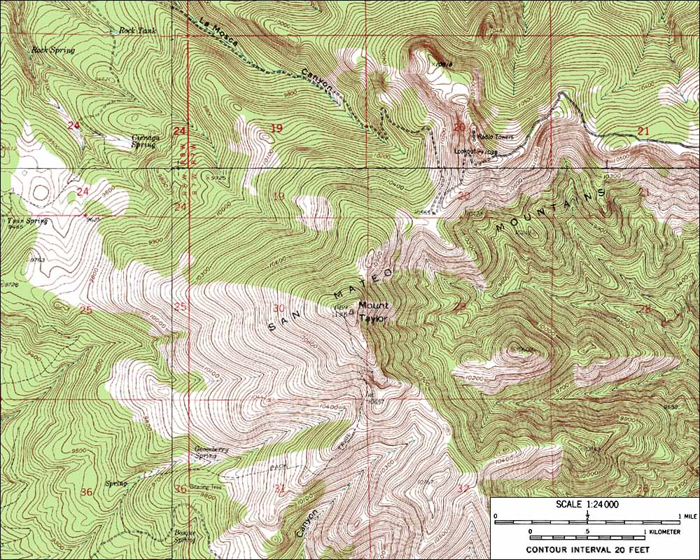 Skiing The Pacific Ring Of Fire And Beyond Mount Taylor - Topographical map of new mexico