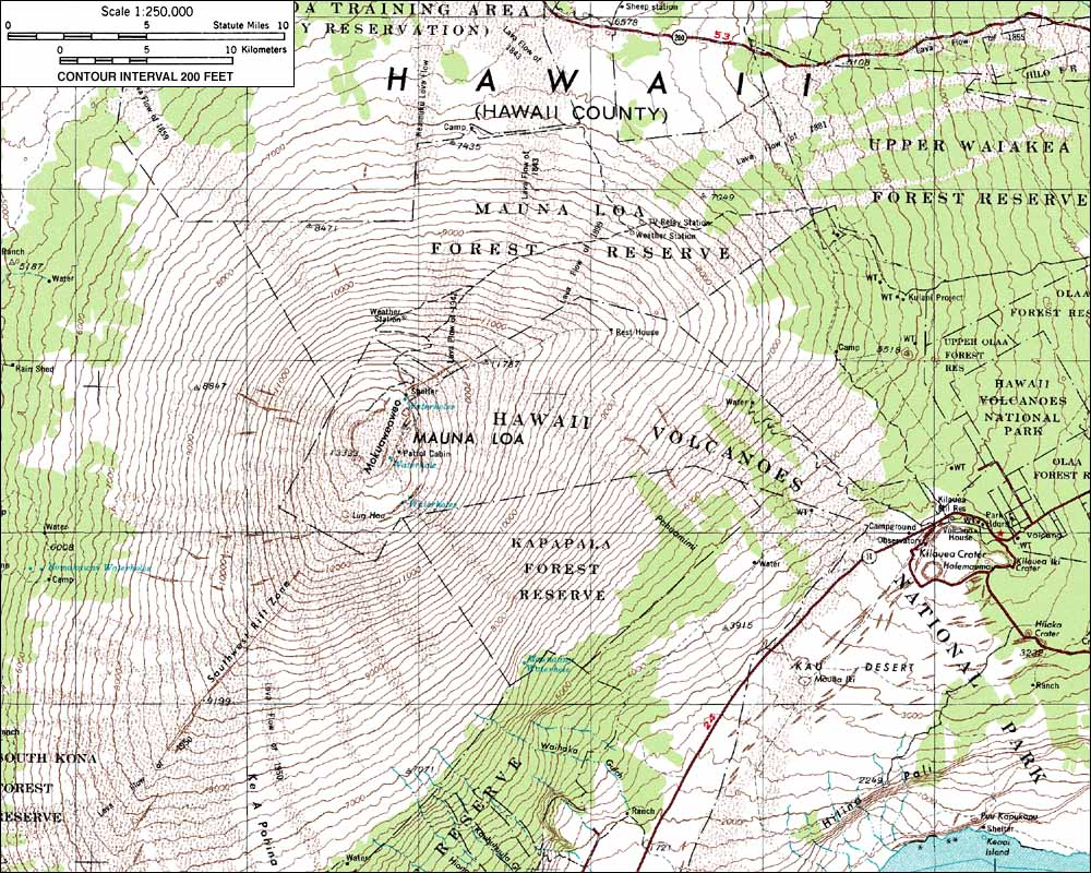 Gallery For Gt Mauna Loa Topographic Map